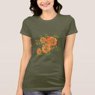 Orange Vintage Flowers T-Shirt