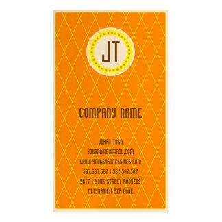 Orange Vintage Gambler Cowboy Pack Of Standard Business Cards