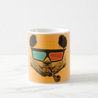 Orange Vintage panda 3D glasses Coffee Mug