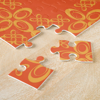 Orange Vintage Retro Pattern Puzzles