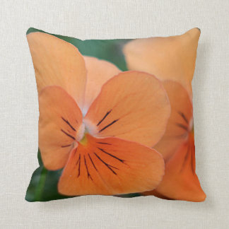 Orange violas cushion