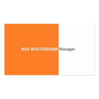 Orange visiting card business card templates