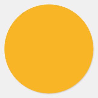 Orange Visual Identifiers Color Coding Tools Classic Round Sticker