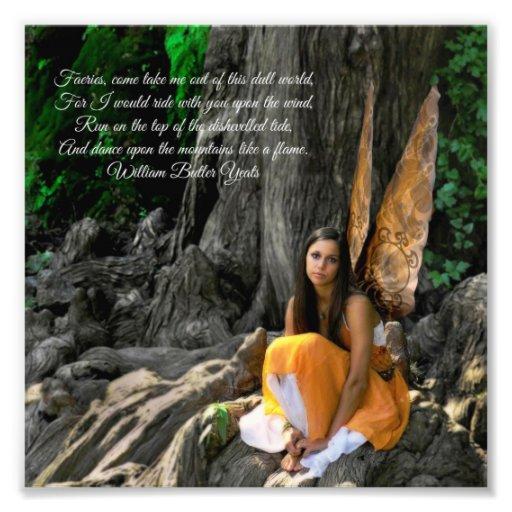 Orange Water Fairy William Butler Yeats Quote Photo