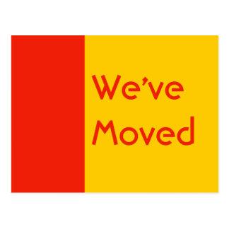 orange we ve Moved Postcard
