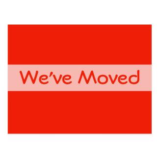 orange we ve Moved Post Cards