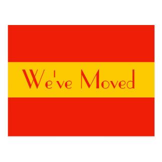 orange we ve moved postcards
