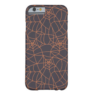 Orange web spiders pattern barely there iPhone 6 case