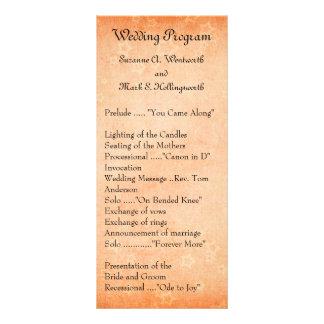 Orange Wedding Programs with Stars Rack Cards