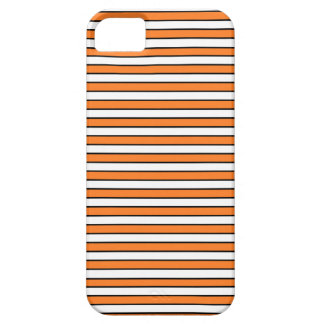 Orange, White and Black Stripes Barely There iPhone 5 Case