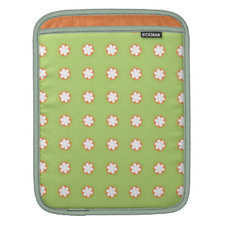 Orange & White Apple Blossoms Sleeve For iPads