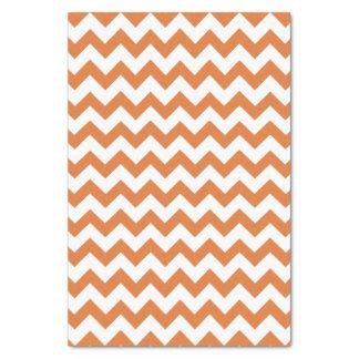 Orange & White Chevron Pattern Tissue Paper