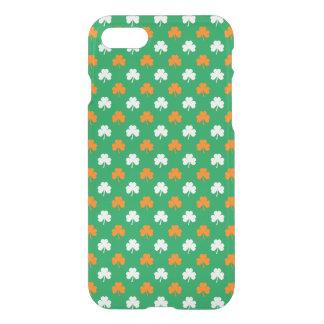 Orange & White Heart Clover on Green St. Patrick's iPhone 7 Case