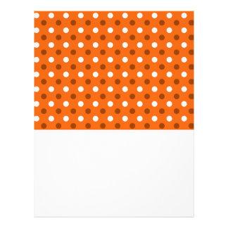 Orange white polka dots flyer design