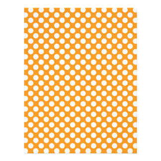 Orange white polka dots personalized flyer