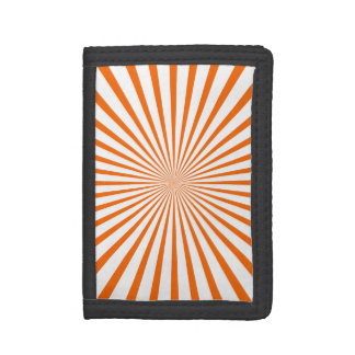 Orange & White Radiant Stripes Trifold Wallets