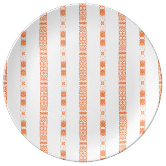 orange white reason abstracts smart modern elegant plate