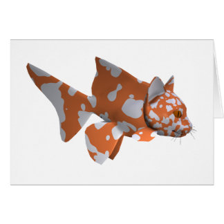 Orange-White Spotted Catfish Card