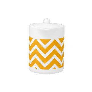 orange white zig zag pattern design