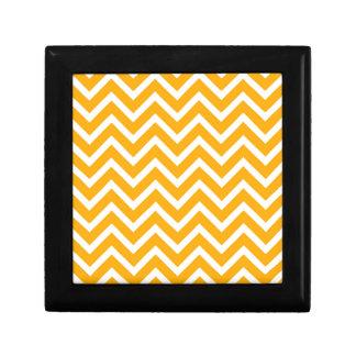 orange white zig zag pattern design gift box