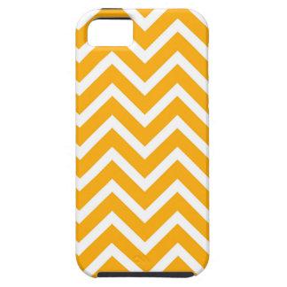 orange white zig zag pattern design iPhone 5 cover