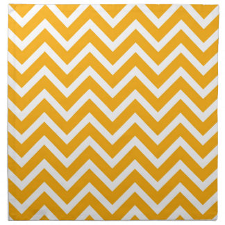 orange white zig zag pattern design napkin