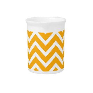 orange white zig zag pattern design pitcher