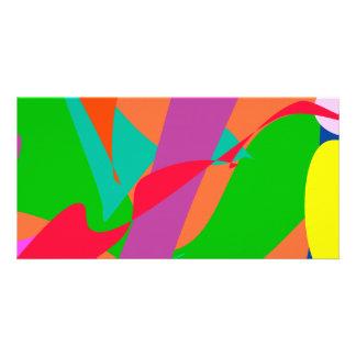 Orange Wind Picture Card