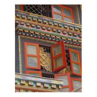 Orange Windows in Kathmandu Postcard