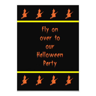 Orange Witch Halloween Invitation
