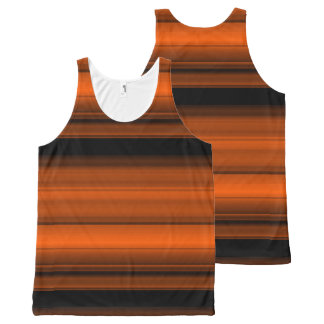 Orange with black shades / stripes All-Over print singlet