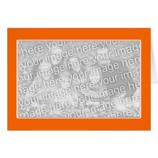 Orange with White Border (photo frame) Card