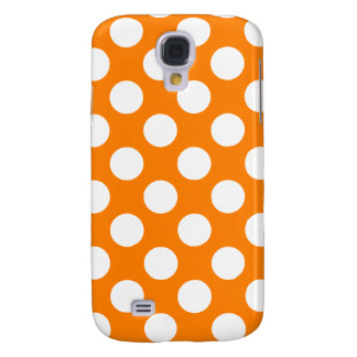 Orange with White Polka Dots Galaxy S4 Cover