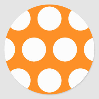 Orange with White Polka Dots Stickers