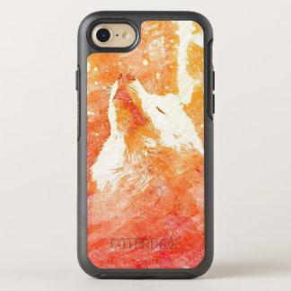 Orange Wolf iPhone 7 Otterbox Case