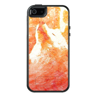 Orange Wolf iPhone SE/5/5s Otterbox Case