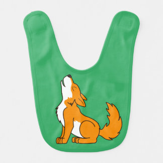 Orange Wolf Pup Howling Bib