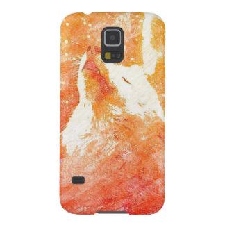 Orange Wolf Samsung Galaxy S5 Phone Case