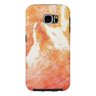 Orange Wolf Samsung Galaxy S6 Phone Case