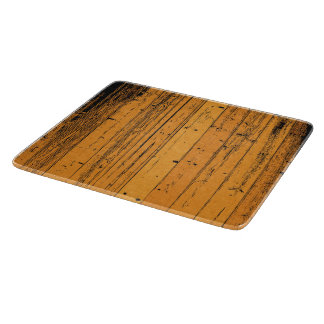 Orange Wood pattern old tree vertical line artwork Cutting Board