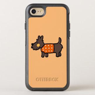 orange woolly jumper cute puppy OtterBox symmetry iPhone 8/7 case