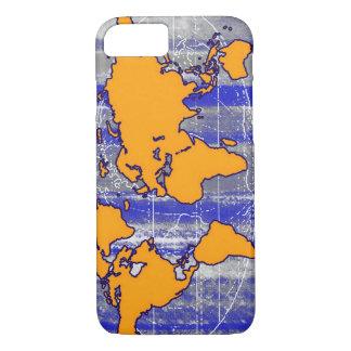 orange world map iPhone 7 case