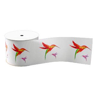 Orange Yellow And Green Hummingbird Grosgrain Ribbon