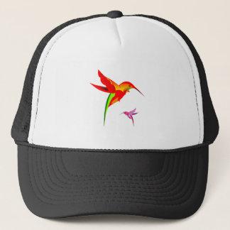 Orange Yellow And Green Hummingbird Trucker Hat