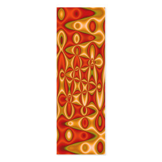 orange yellow bookmarks business cards