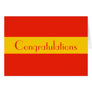 orange yellow congratulations card
