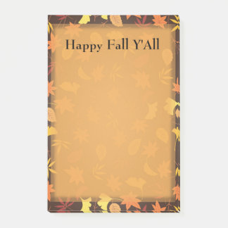 Orange Yellow Fall Leaves Autumn Thanksgiving Post Post-it Notes