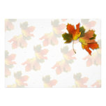 Orange & Yellow  Fall Leaves Personalized Invitations