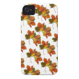 Orange & Yellow  Fall Leaves iPhone 4 Case-Mate Cases