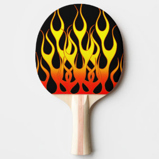 Orange Yellow Flame Graphics Ping Pong Paddle